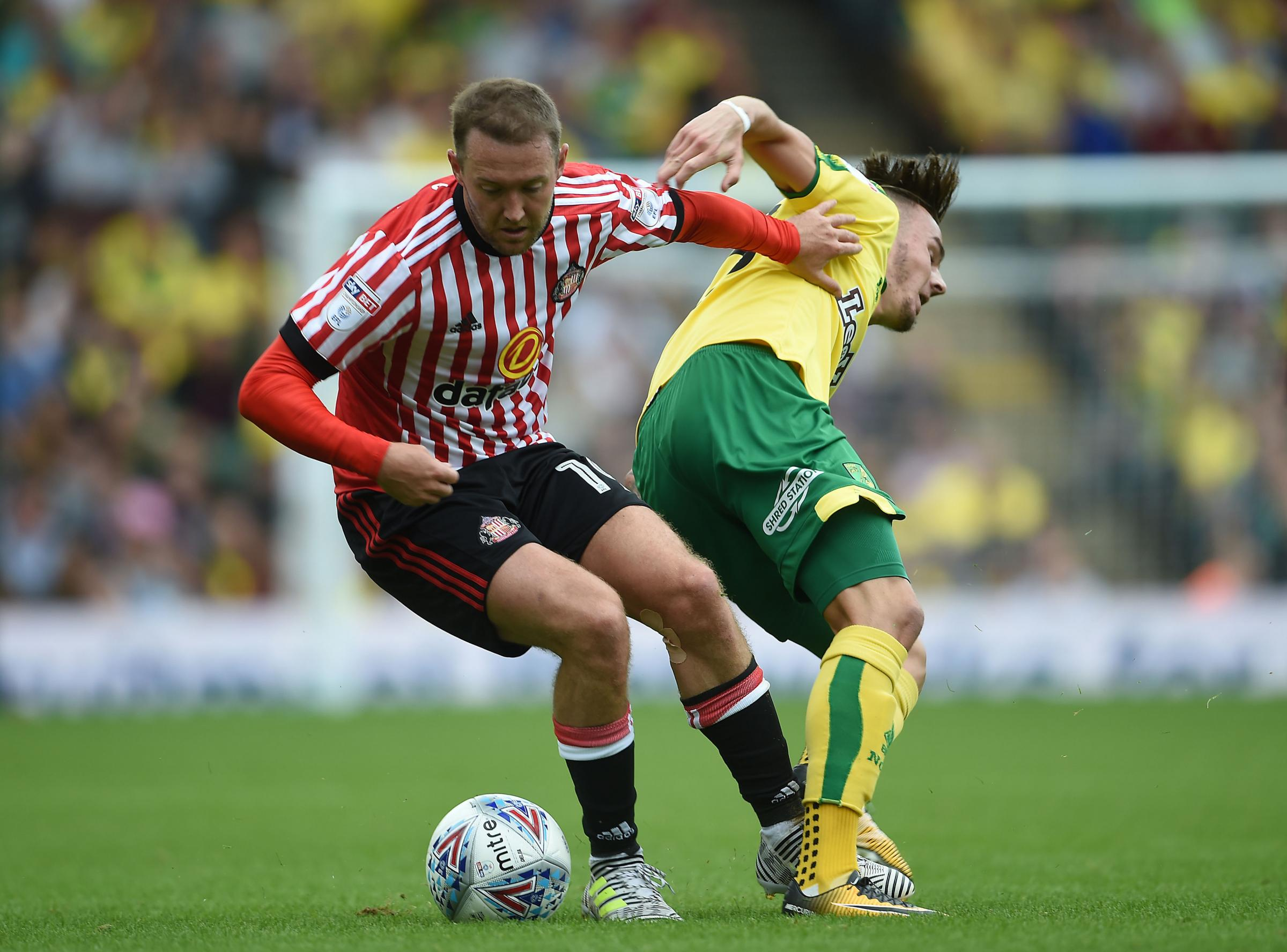 BACK IN TRAINING: Sunderland midfielder Aiden McGeady