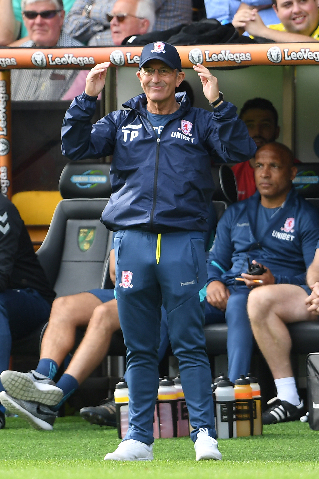 Middlesbrough manager Tony Pulis during the Sky Bet Championship match at Carrow Road, Norwich. PRESS ASSOCIATION Photo. Picture date: Saturday September 15, 2018. See PA story SOCCER Norwich. Photo credit should read: Joe Giddens/PA Wire. RESTRICTIONS: E