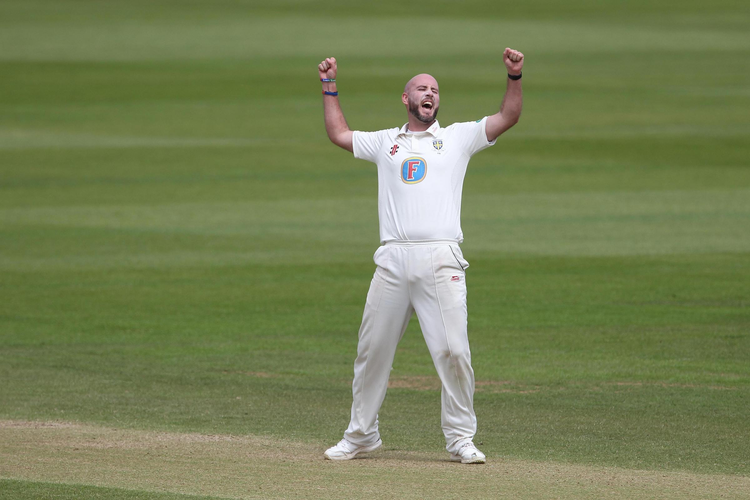 HOMEGROWN HERO: Durham seamer Chris Rushworth
