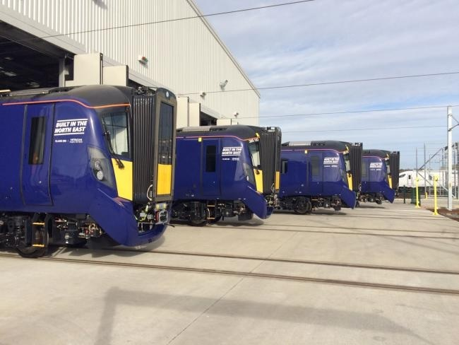 A fleet of 70 Class 385 trains made at Newton Aycliffe will, say Hitachi, transform journeys for the ScotRail commuter routes, including Edinburgh to Glasgow.