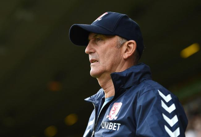 WATCHING BRIEF: Tony Pulis admits he was disappointed with his Middlesbrough side's performance at Norwich last weekend
