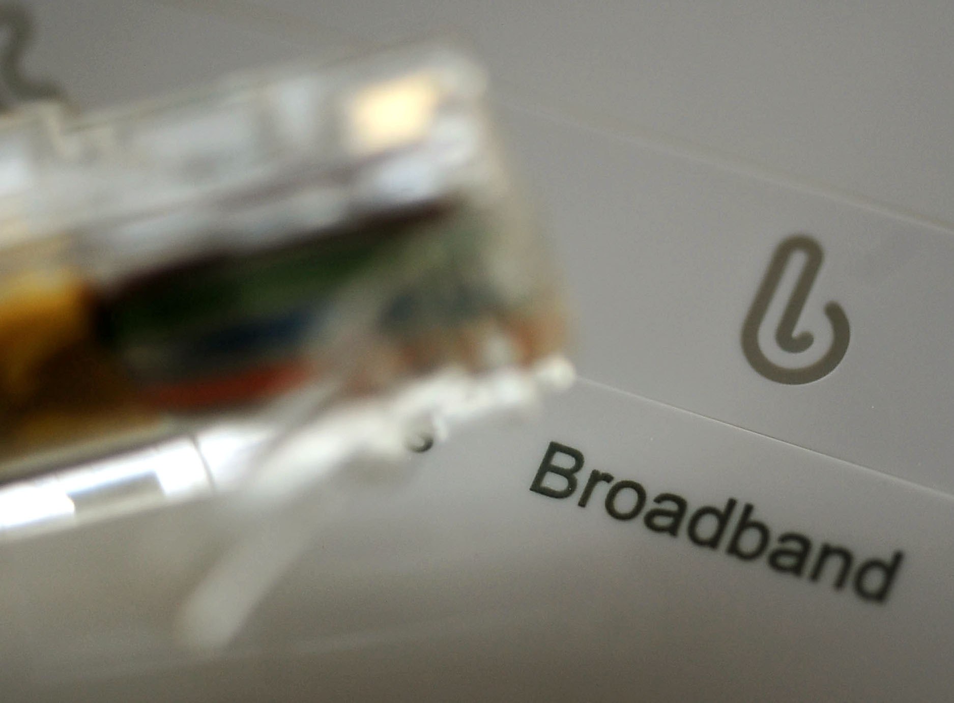 A broadband router and cable. Picture: PA