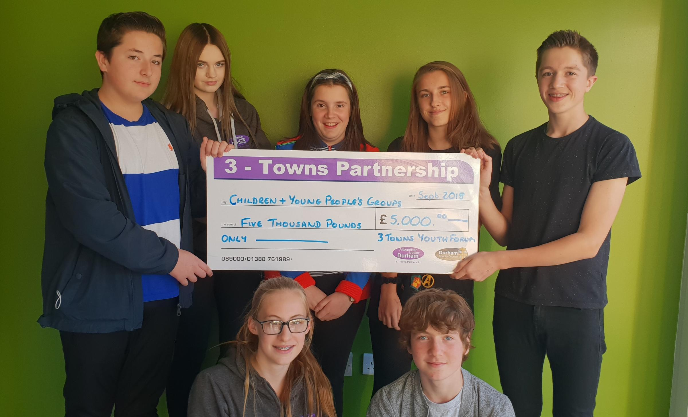 FUND: Members of the 3 Towns Youth Forum which has set up a grants fund