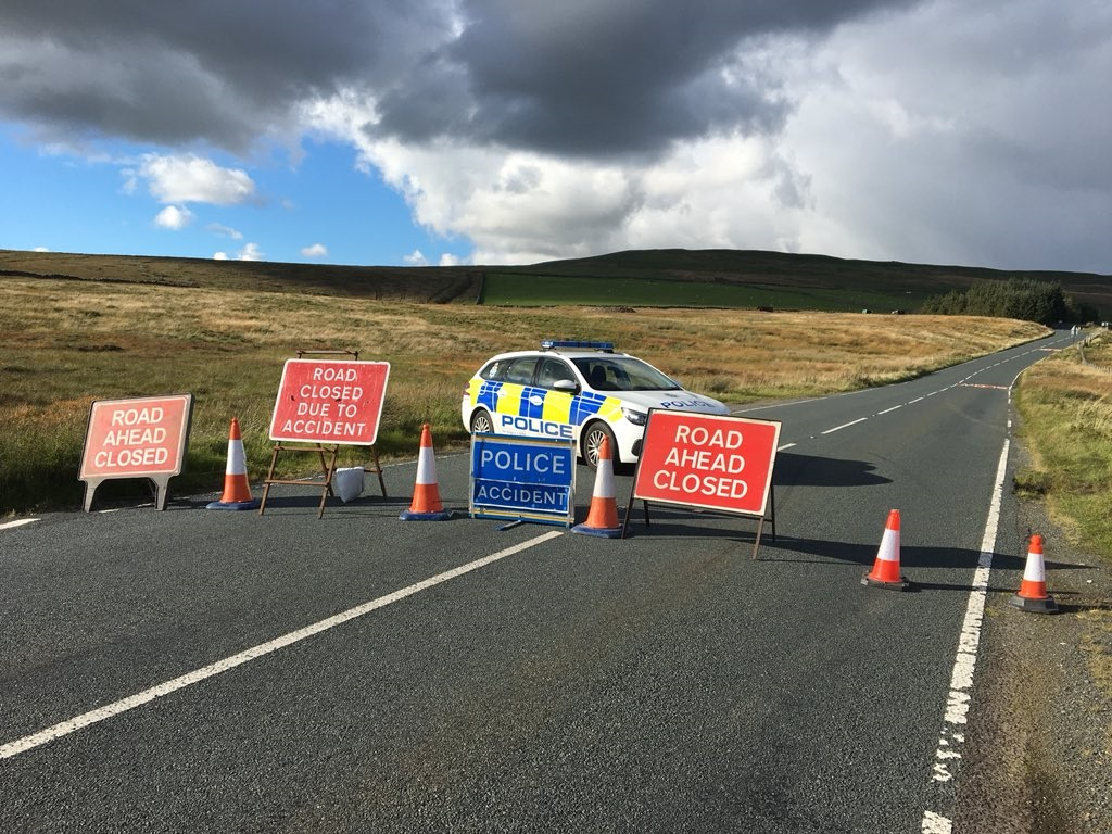 Emergency services at scene of accident in the Yorkshire Dales Picture: THOMAS BERESFORD