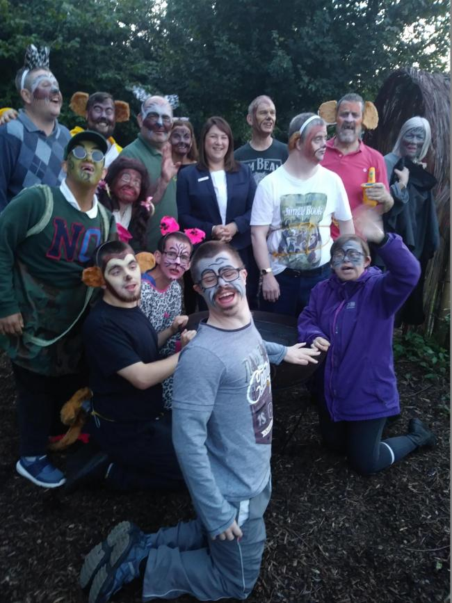 Members of Northdale Horticulture in Northallerton staging their production of The Jungle Book