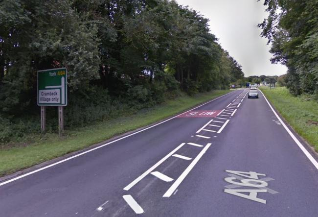 The A64 is to be closed at Crambeck between York and Malton. Picture: GOOGLE