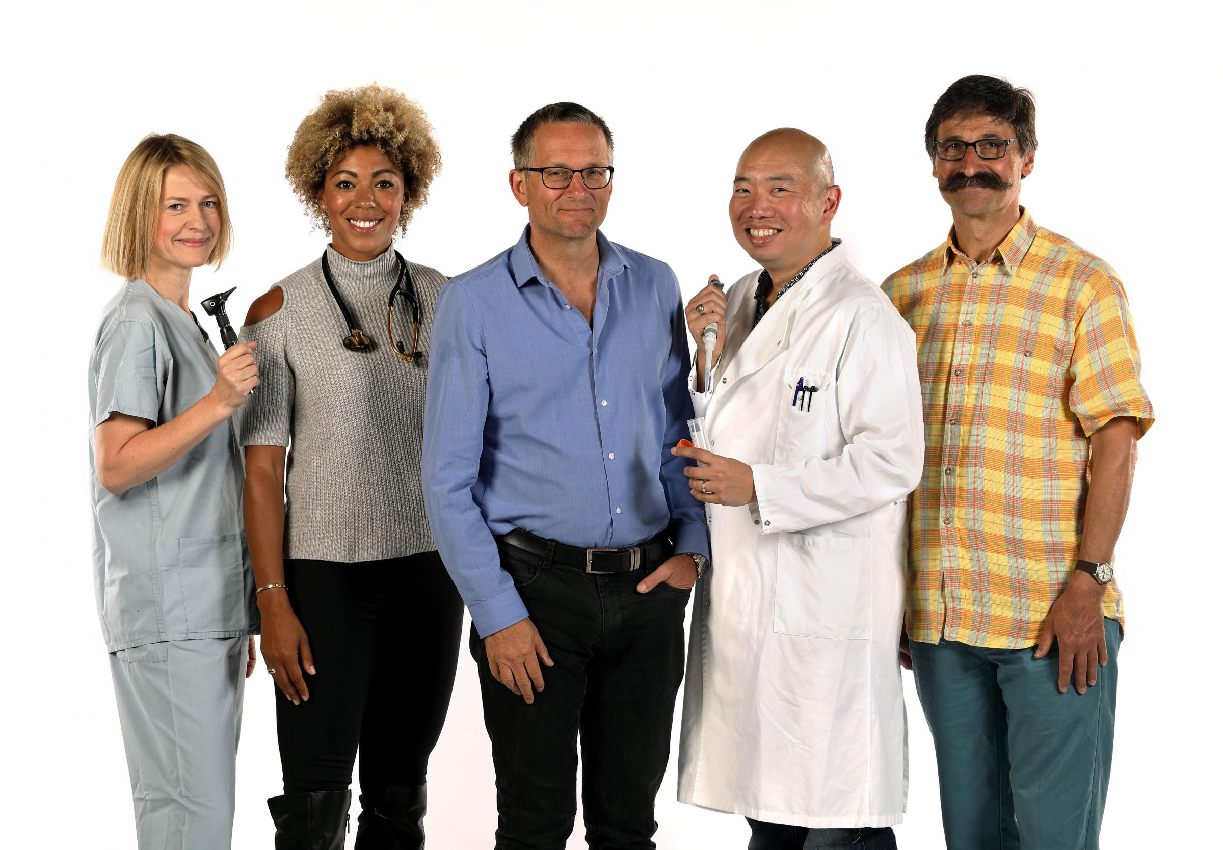 Trust Me I'm a Doctor Picture Shows:  Ms Gabriel Weston, Dr Zoe Williams, Michael Mosley, Dr Giles Yeo, Dr Alain Gregoire