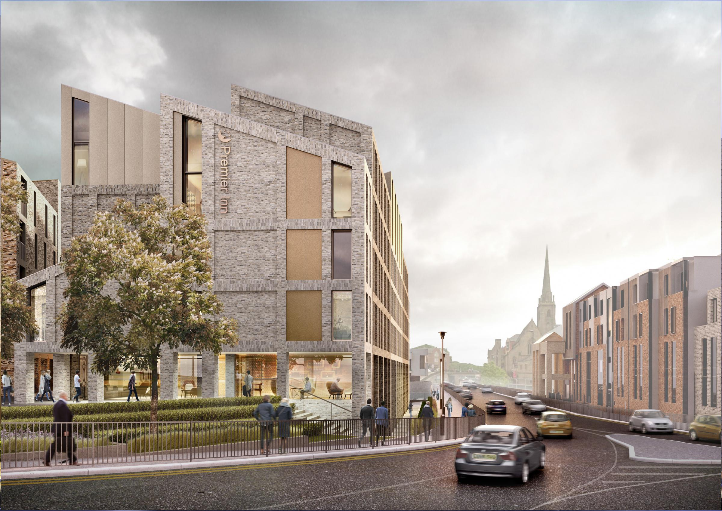 CGIs of the proposed plans for Milburngate
