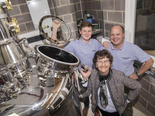 DISTIL: Richmondshire District Council leader, Cllr Yvonne Peacock with Luke and Tony Brotherton at The Yorkshire Dales Distillery in Colburn