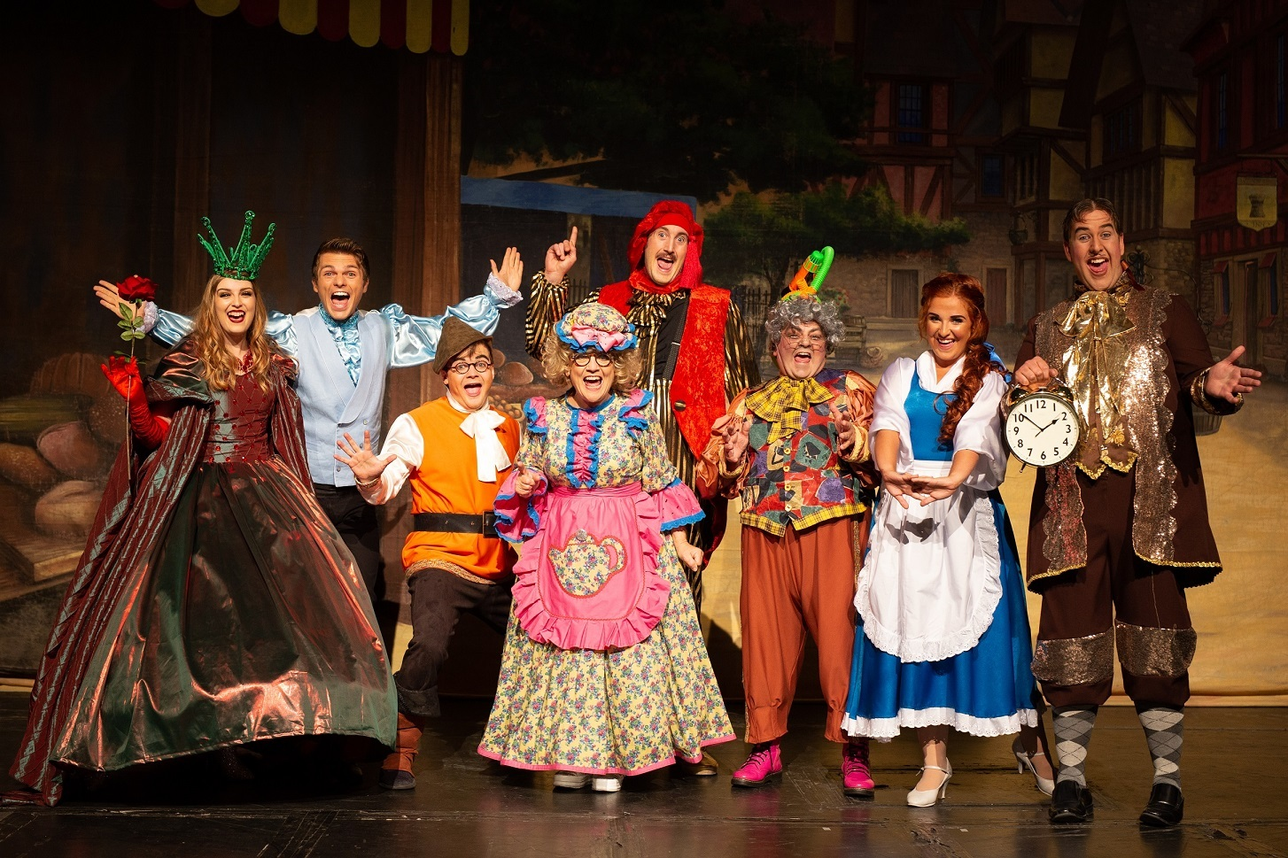 PANTOMIME: The cast of Beauty and the Beast, which is set to entertain audiences of all ages at the Empire Theatre, in Consett, over the festive period. Picture: PAUL LYNCH