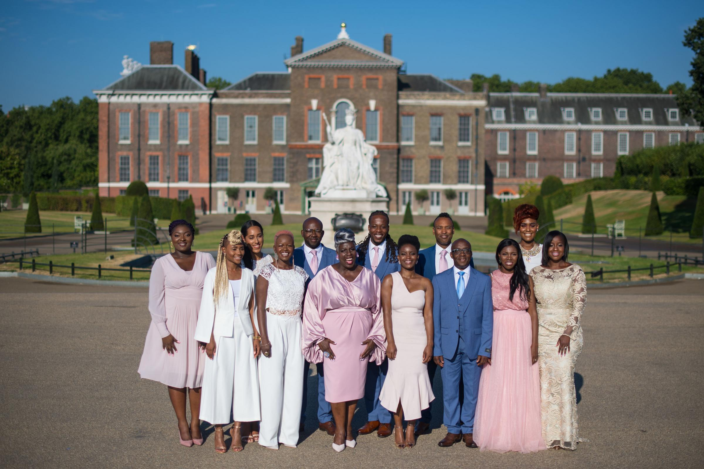 File photo dated 24/07/2018 of Conductor Karen Gibson (centre left) and members of the Kingdom Choir, who performed Stand By Me at the royal wedding, and who have announced a tour of the UK. PRESS ASSOCIATION Photo. Issue date: Thursday September 27, 2018