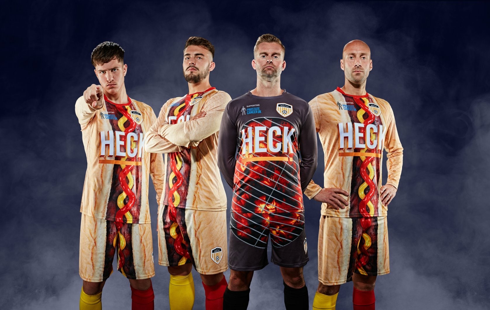 By Heck they're awful! The fundraising kits worn by Bedale AFC