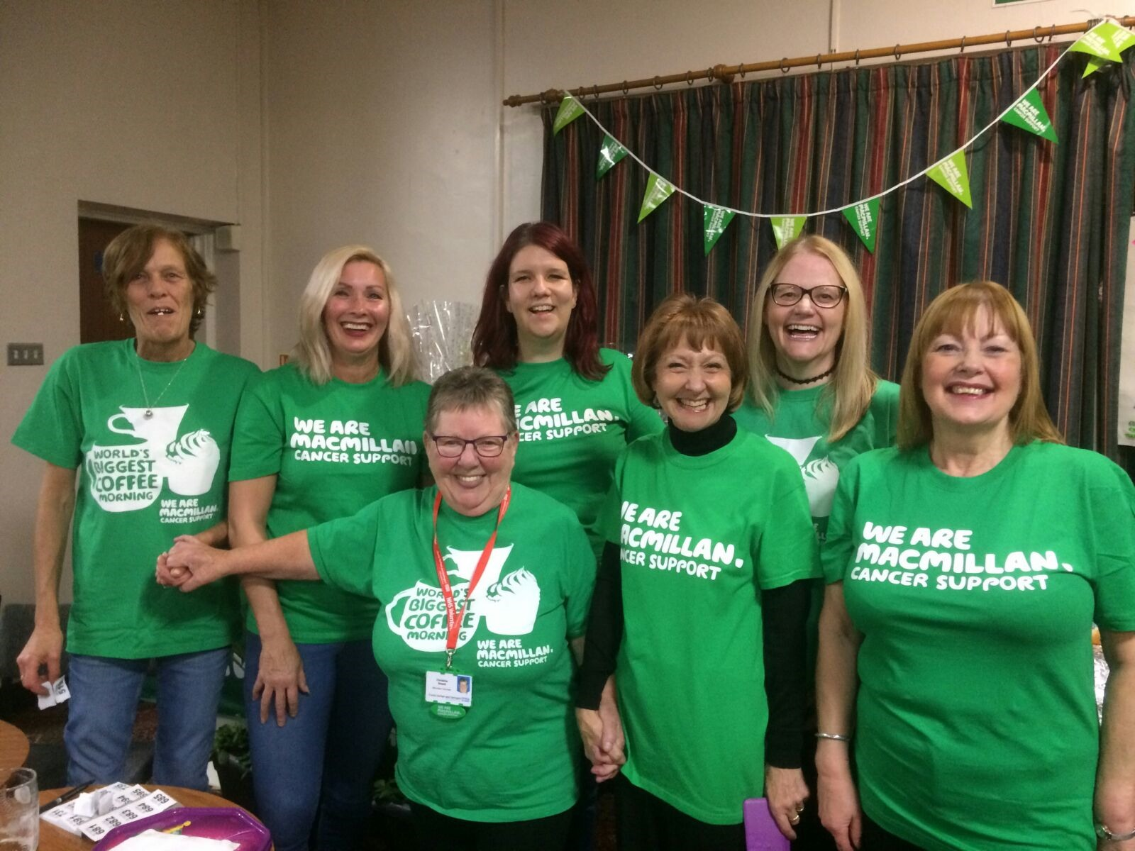 ROCK: Christine Sewell (third from left) and her team of fundraisers from Sherburn Village, who are putting on a rock night to raise money for Macmillan Cancer Support