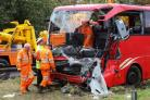 COLLISION: A coach driver was hailed a hero for his quick-thinking when a lorry overturned on the A1
