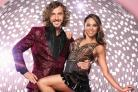 Strictly Come Dancing's Seann Walsh with his dance partner Katya Jones who were pictured in The Sun kissing on a night out. Picture: Ray Burmiston/BBC/PA Wire