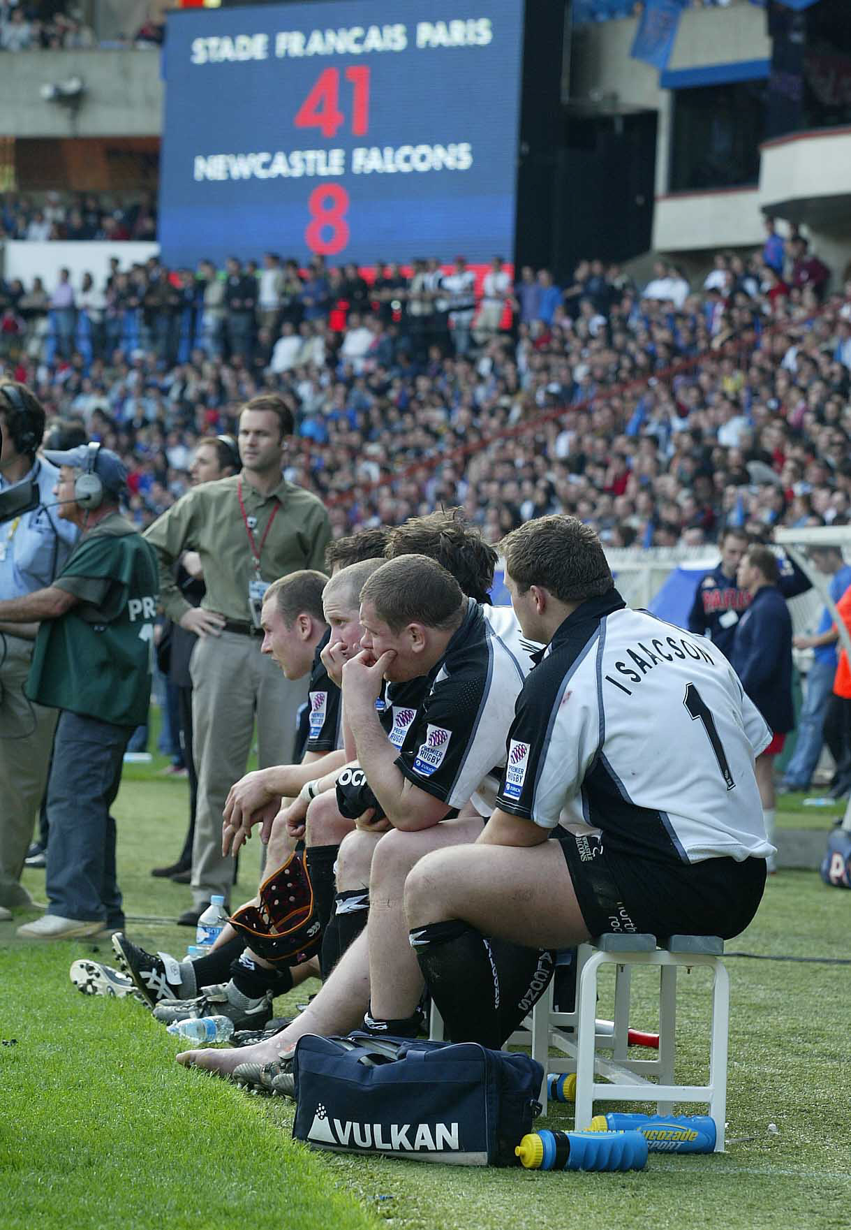 BAD DAY: Newcastle Falcons' last appearance in European rugby's top-tier competition saw them thrashed in Paris in 2005