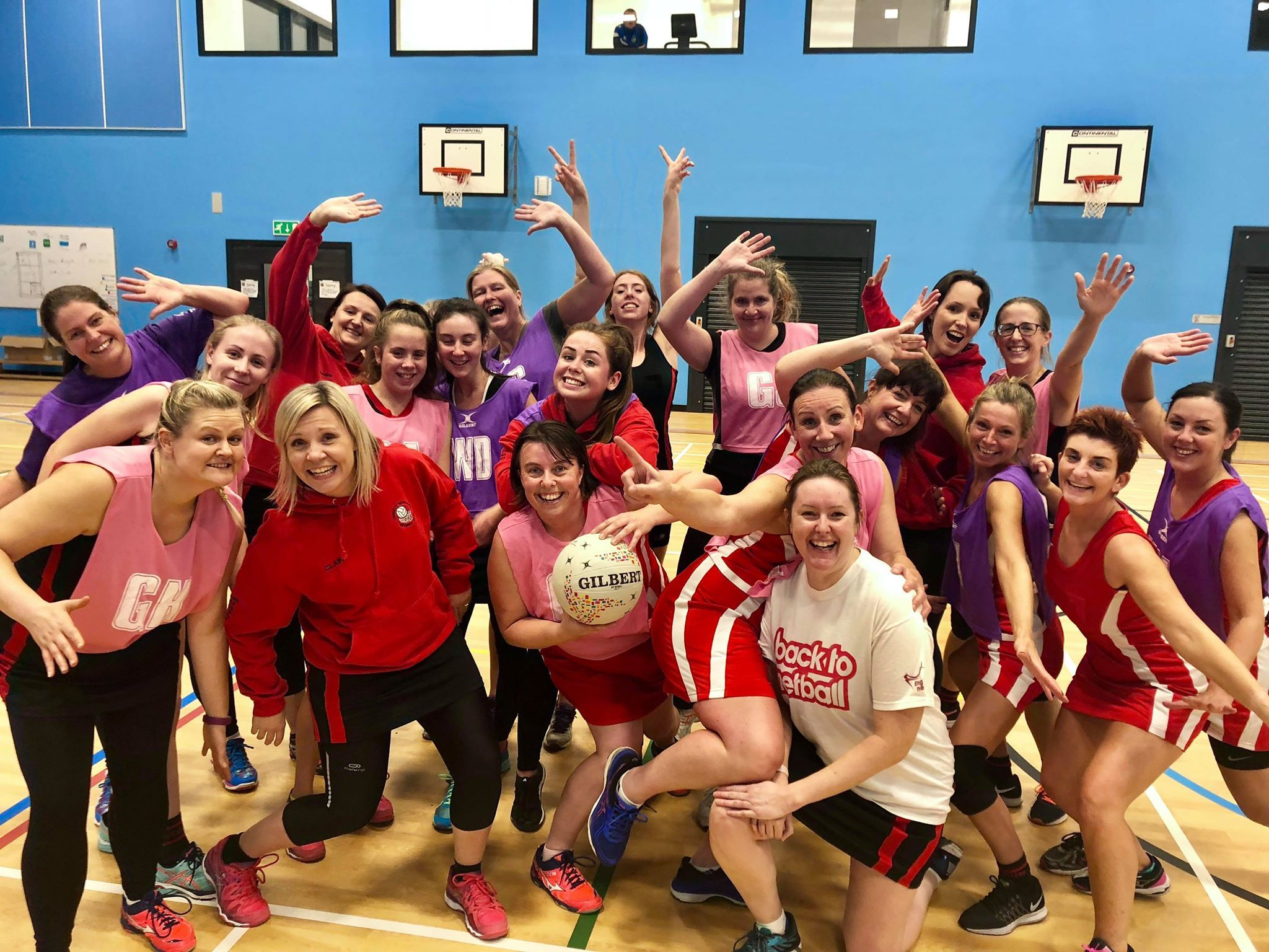 PLAY: Netballers celebrating the 10th anniversary of Back to Netball in County Durham, which has seen hundreds of women get back into the sport