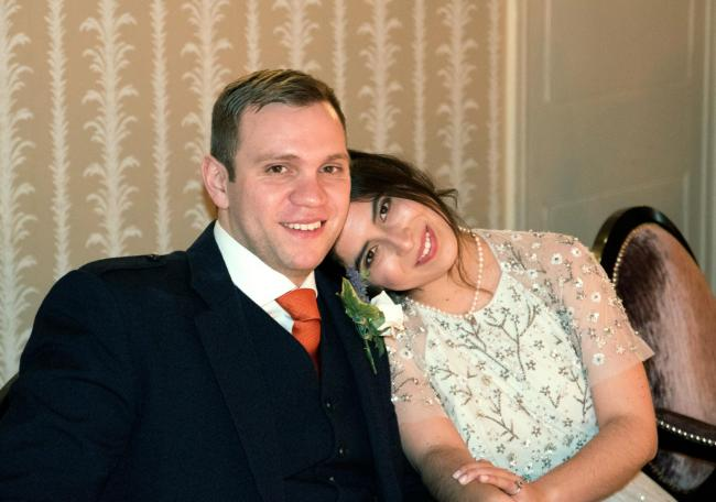 HELD: Durham University PhD student Matthew Hedges pictured with his wife, Daniela