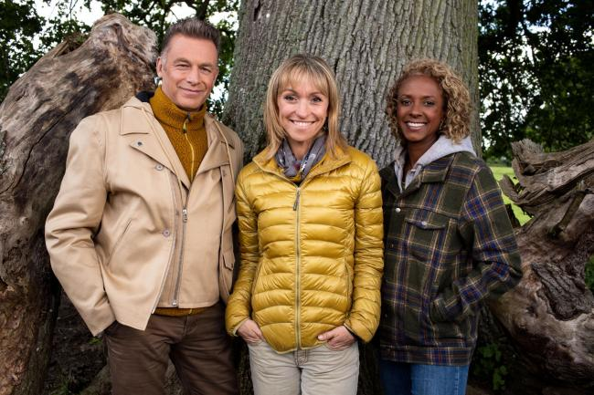 Autumnwatch presenters  Chris Packham, Michaela Strachan and Gillian Burke