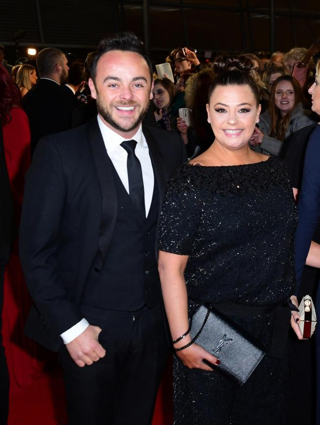 Ant McPartlin and Lisa Armstrong at the National Television Awards. The couple have been granted a divorce by a judge at the Central Family Court in London. Picture: PA