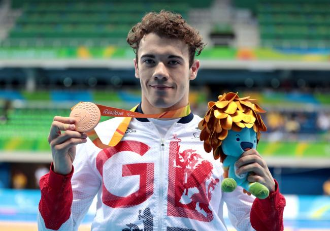 GOLDEN BOY: Josef Craig won Paralympic gold in the 400m freestyle S7 at the London Games in 2012