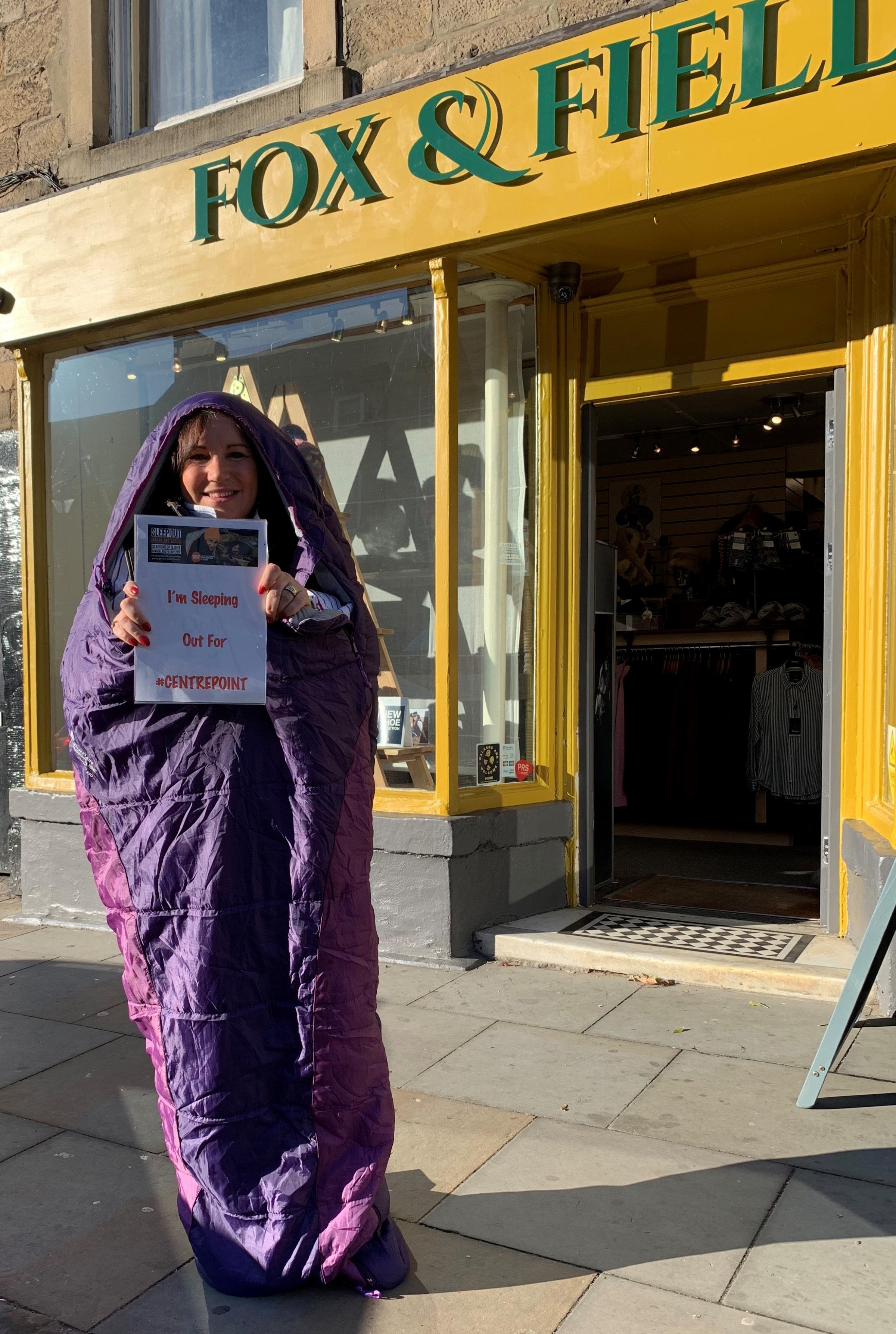 CHALLENGE: Donna Dobson will be sleepimg out for charity
