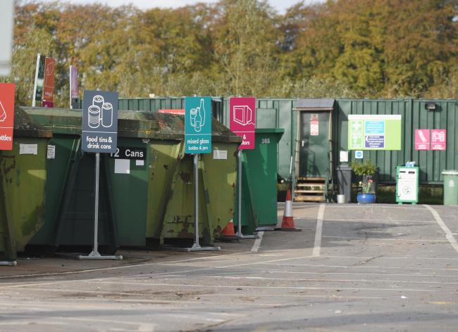 The recycling site, similar to this one, will close at the end of the month