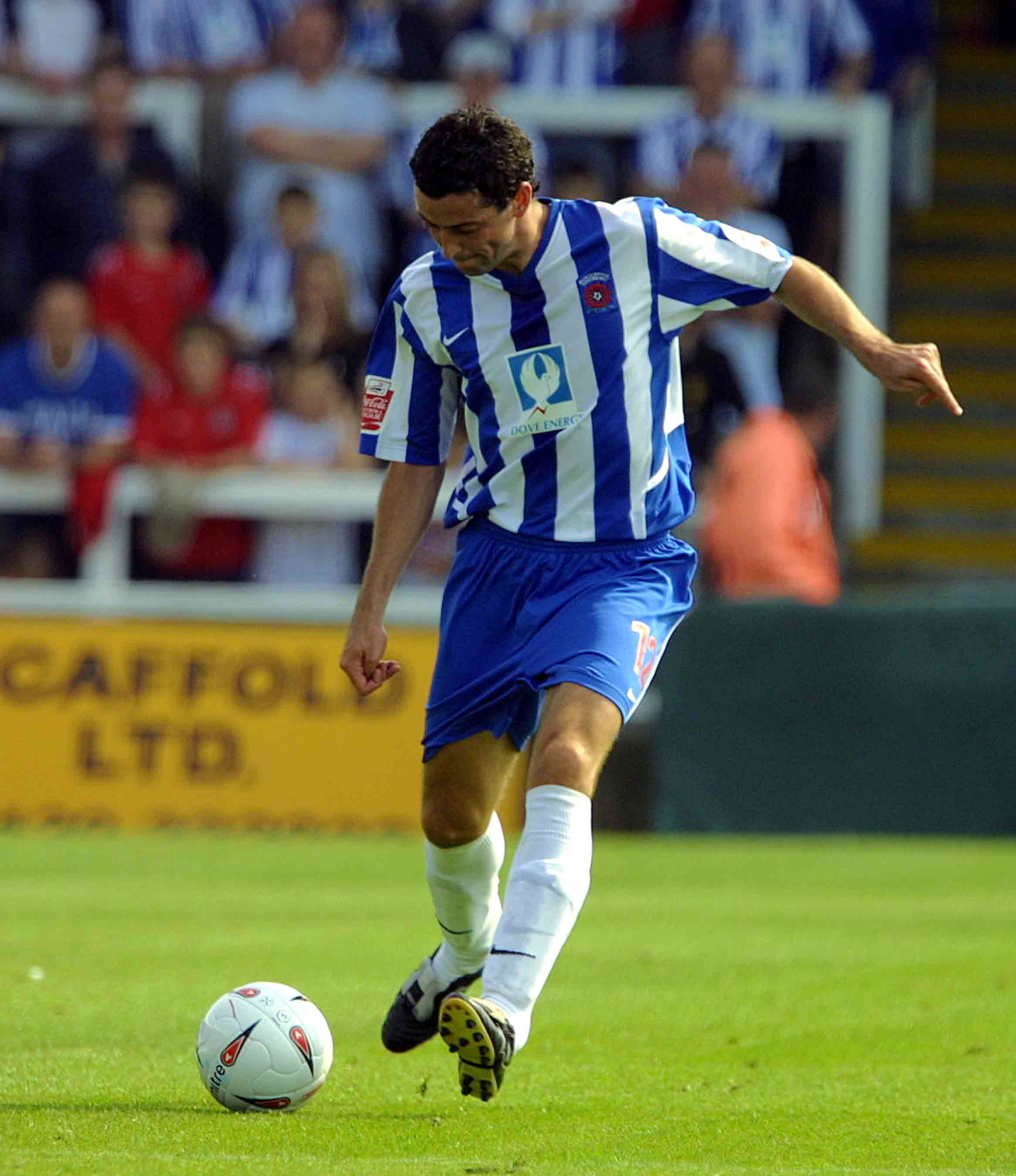 BACK IN THE DAY: Jack Ross playing for Hartlepool in 2004