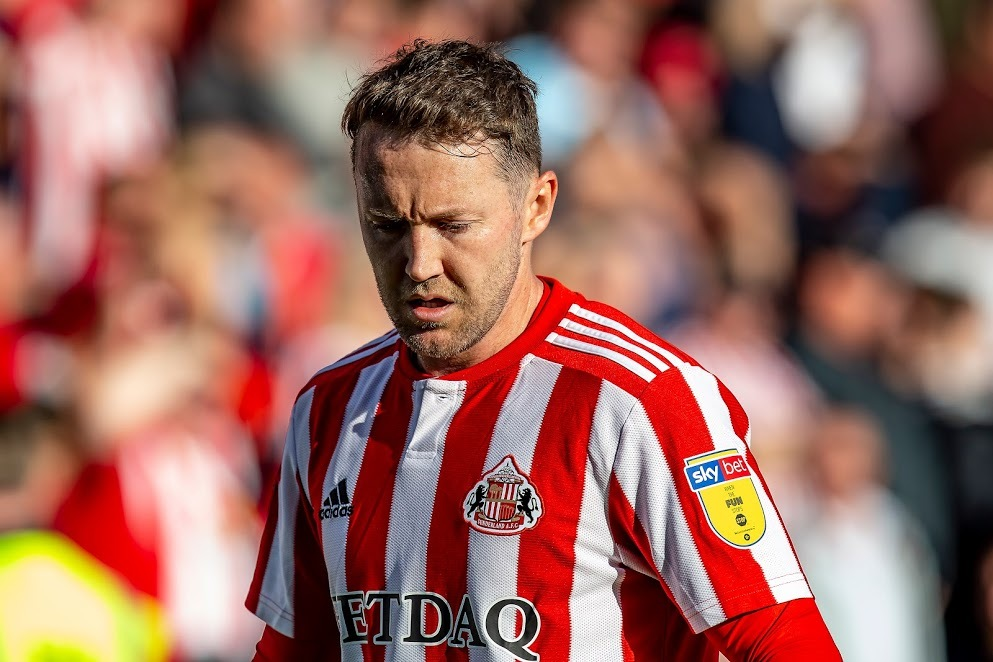 Aidan McGeady of Sunderland AFC during the Sky Bet League 1 match between Shrewsbury Town and Sunderland at Greenhous Meadow, Shrewsbury. Picture: Alan Hayward | MI News & Sport Ltd