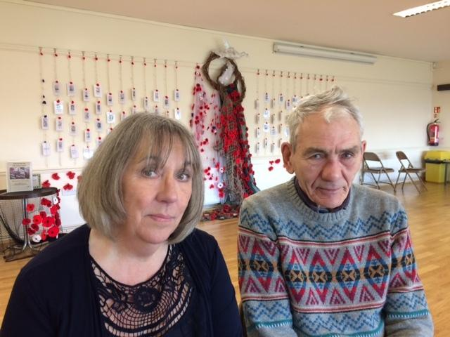 DISPLAY: Durham County Councillor Olga Milburn, left, pictured with Brian Wilson who has research the biographies of 1,200 men from the area who died in World War One.