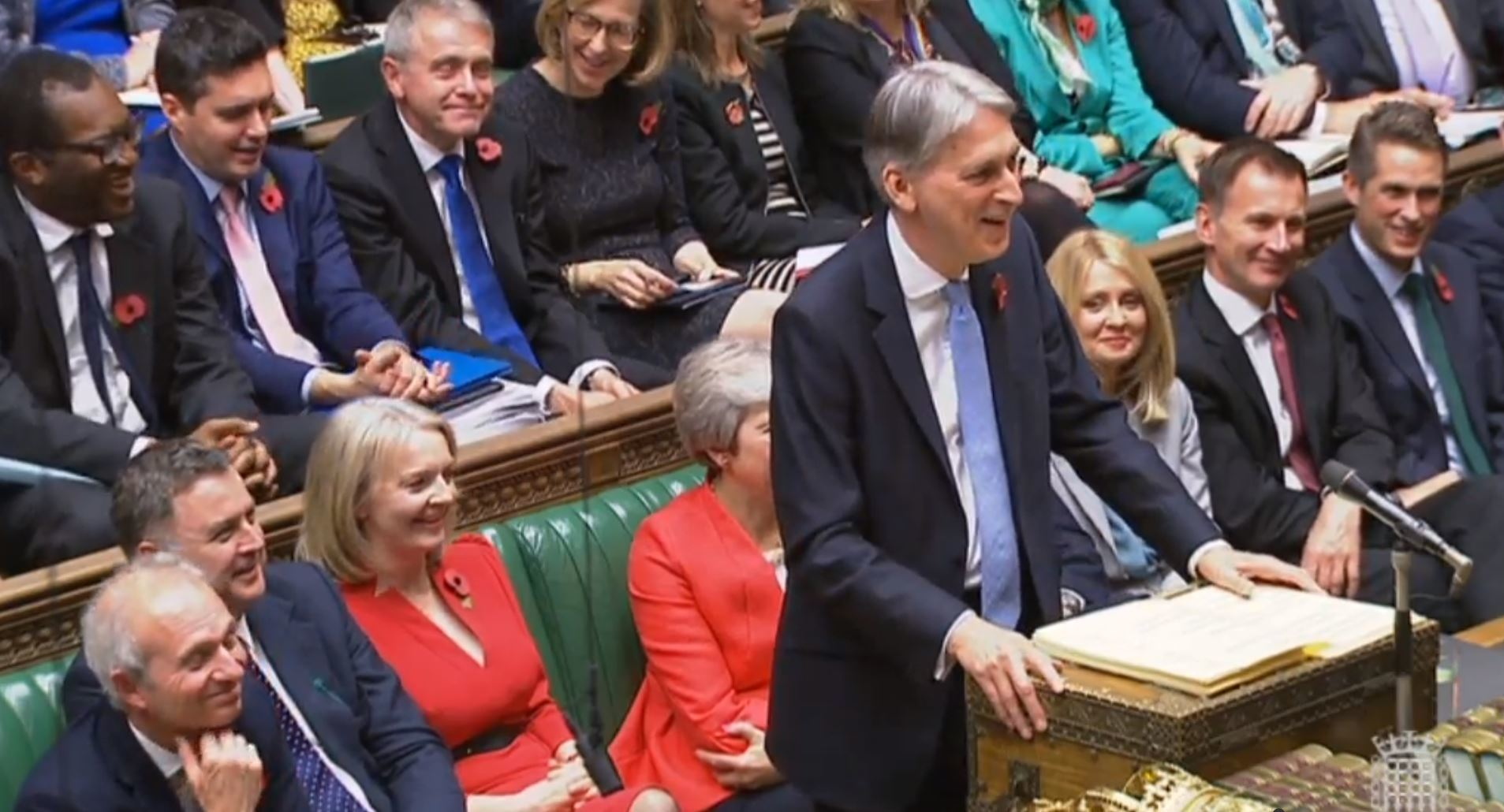 Chancellor of the Exchequer Philip Hammond making his Budget statement to MPs in the House of Commons, London. PRESS ASSOCIATION Photo. Picture date: Monday October 29, 2018. See PA story BUDGET Main. Photo credit should read: PA Wire.