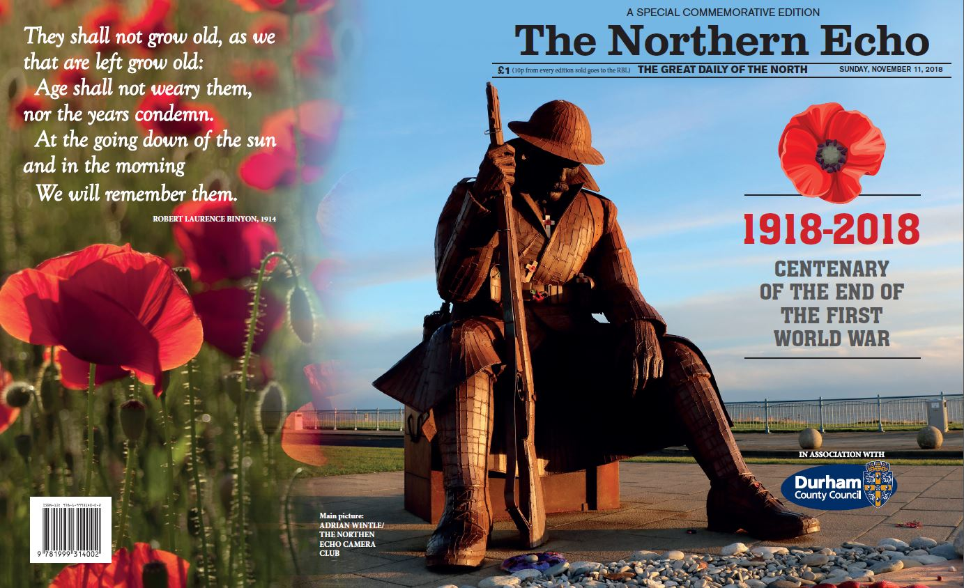 The front cover of our special supplement marking the centenary of the end of the First World War