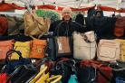 CONTINENTAL MARKET: One of the traders who will be selling leather goods