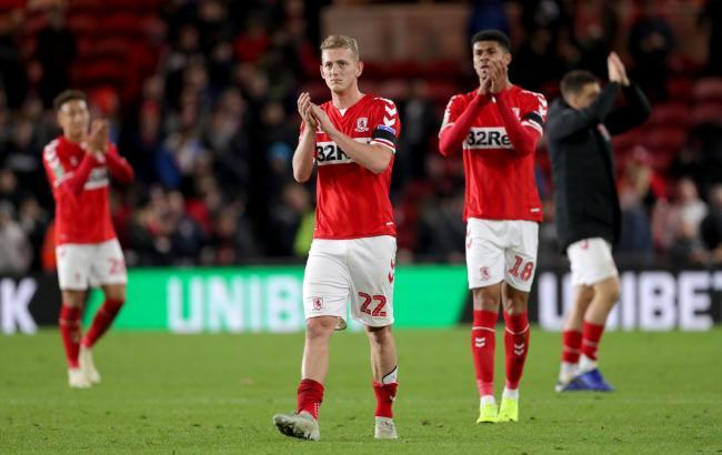 George Saville and Ashley Fletcher leave the field after Middlesbrough's 1-0 win over Crystal Palace (Picture: Richard Sellers/PA Wire)