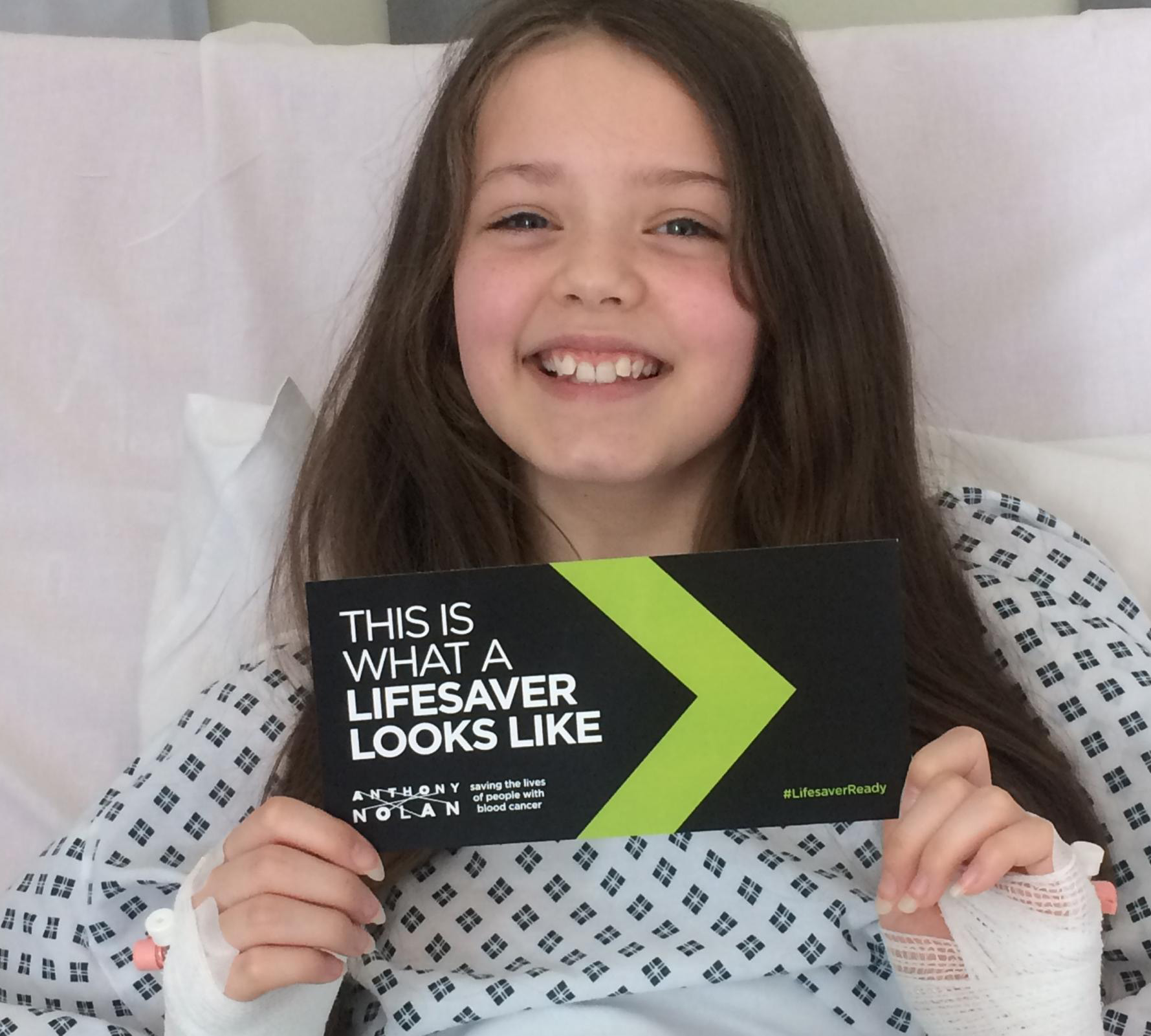 YOUNG HERO: Grace Hardman, from Brandon, who donated her stem cells so her brother Joseph could have a life-saving transplant