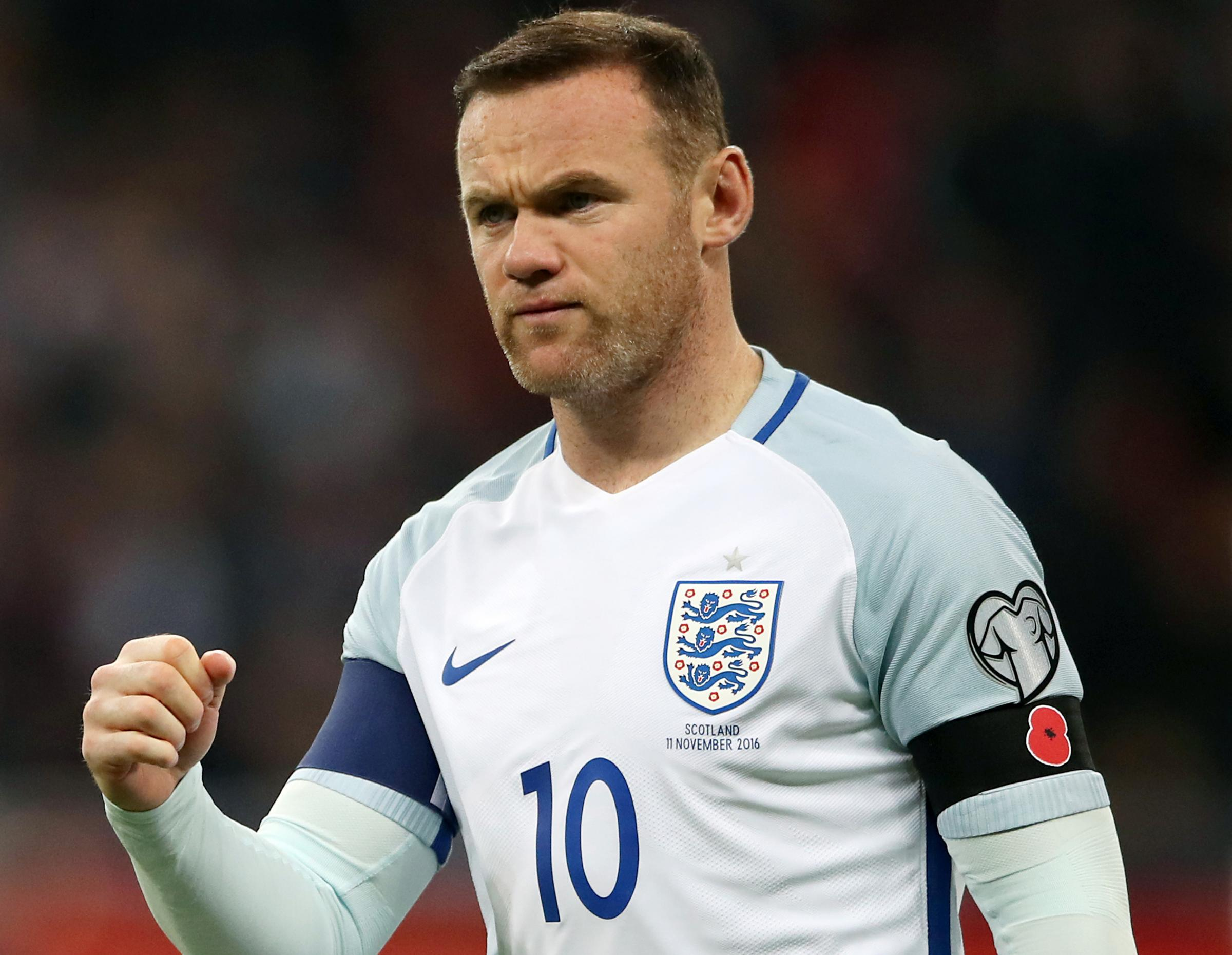 Wayne Rooney, who retired from international football, has been included in the England squad for one game only. Picture: PA