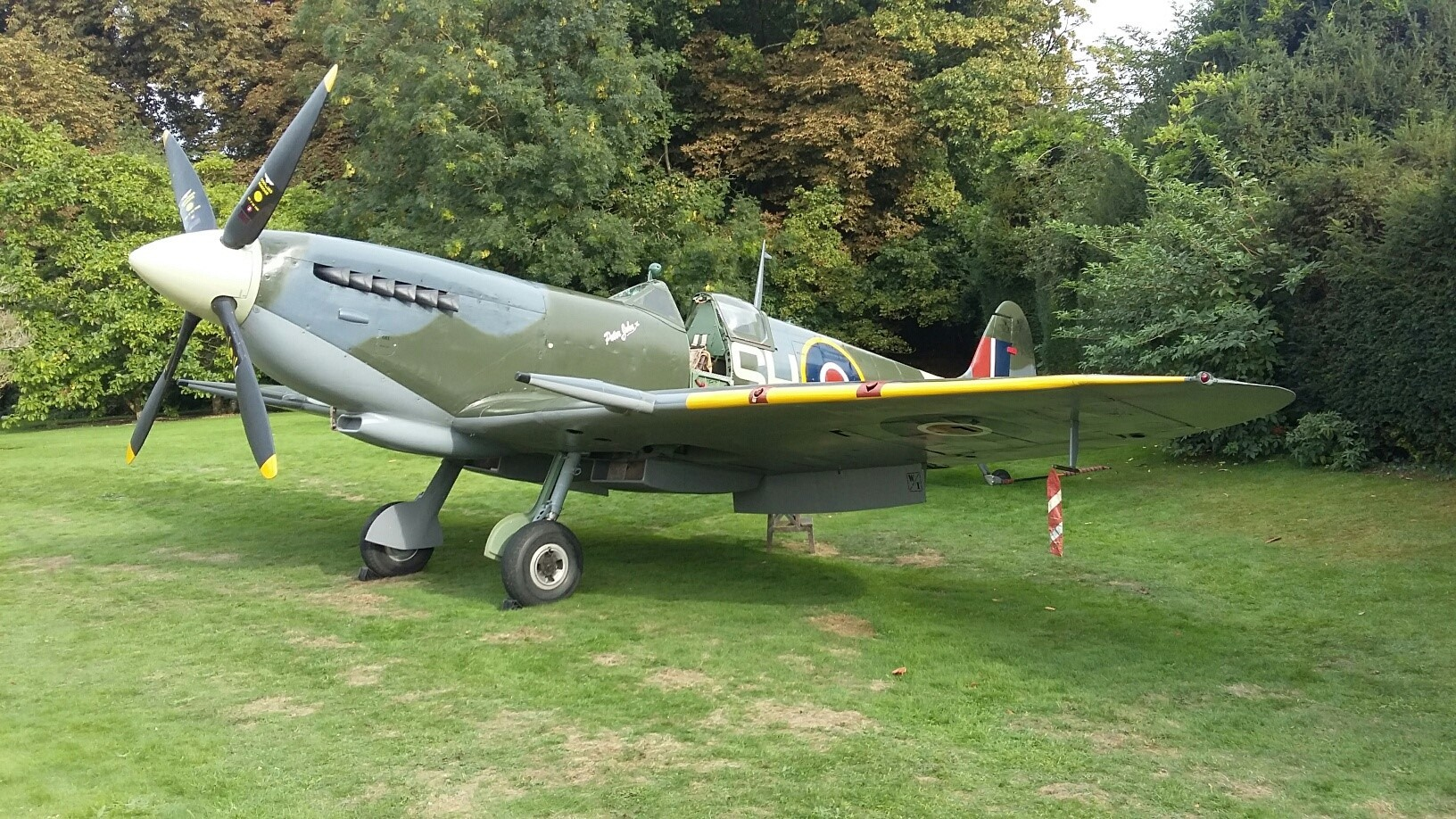 ON SHOW: The only full-size replica Spitfire MKIX will provide a backdrop to Remebrance parade in Durham, on Sunday