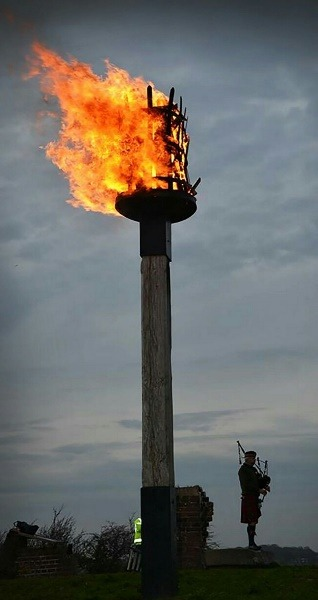 MEMORIAL FLAME: The beacon will be lit on Sunday