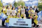 VOICING CONCERNS: NASUWT teachers strike over plans to merge Belmont School into an academy