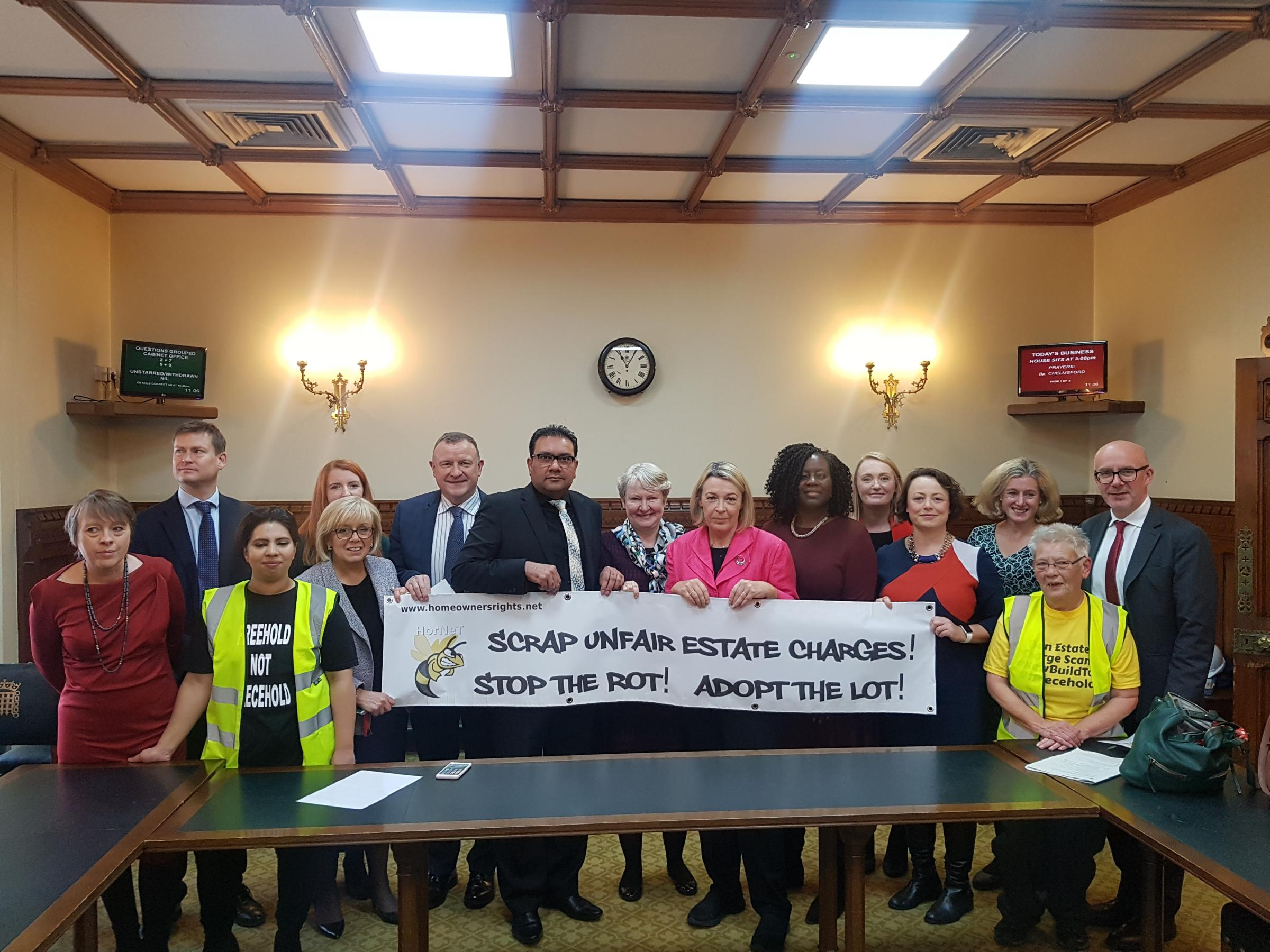 CAMPAIGN: MP Helen Goodman with supporting MPs and the HorNet campaign group