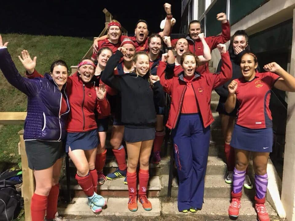 Anyone would think we were pleased with our result - Northallerton Hockey Club after a win last week
