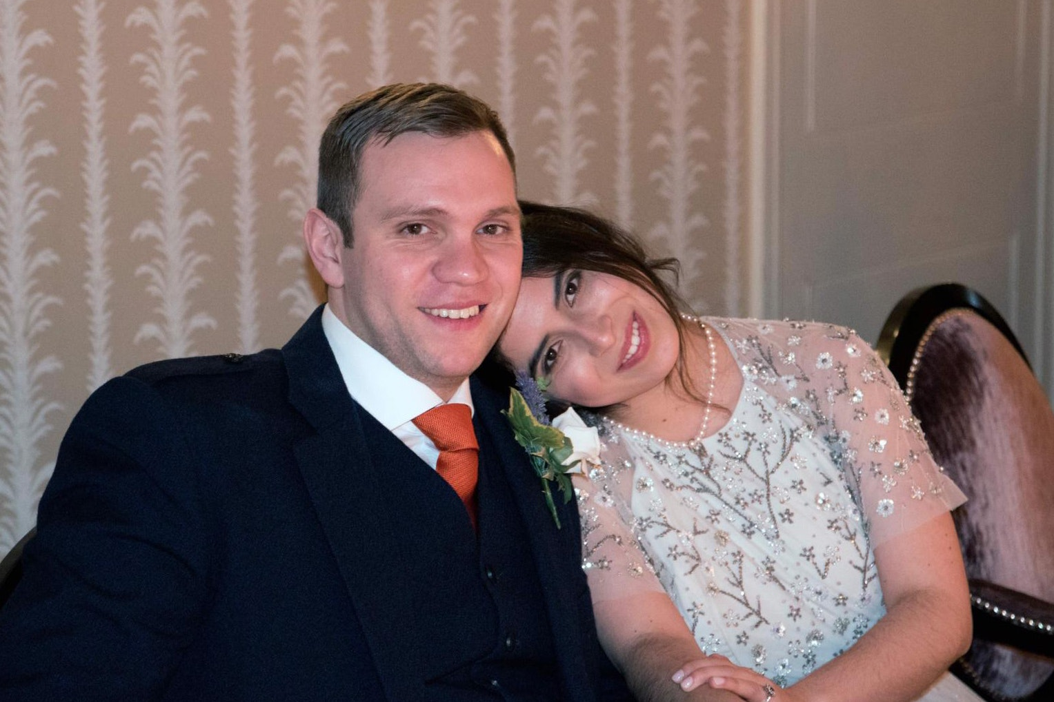 Matthew Hedges with his wife, Daniela Tejada