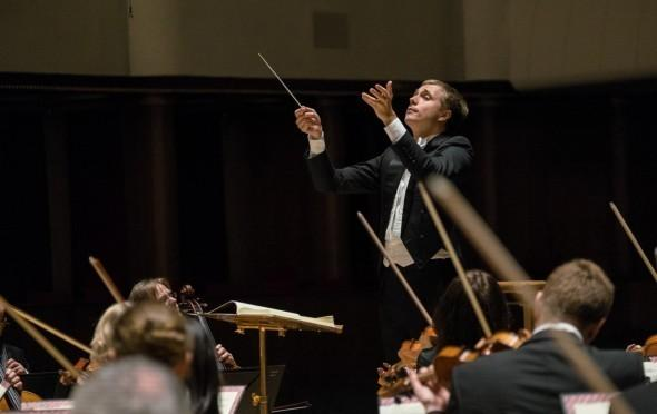 Vasily Petrenko conducting the Royal Liverpool Philharmonic Orchestra