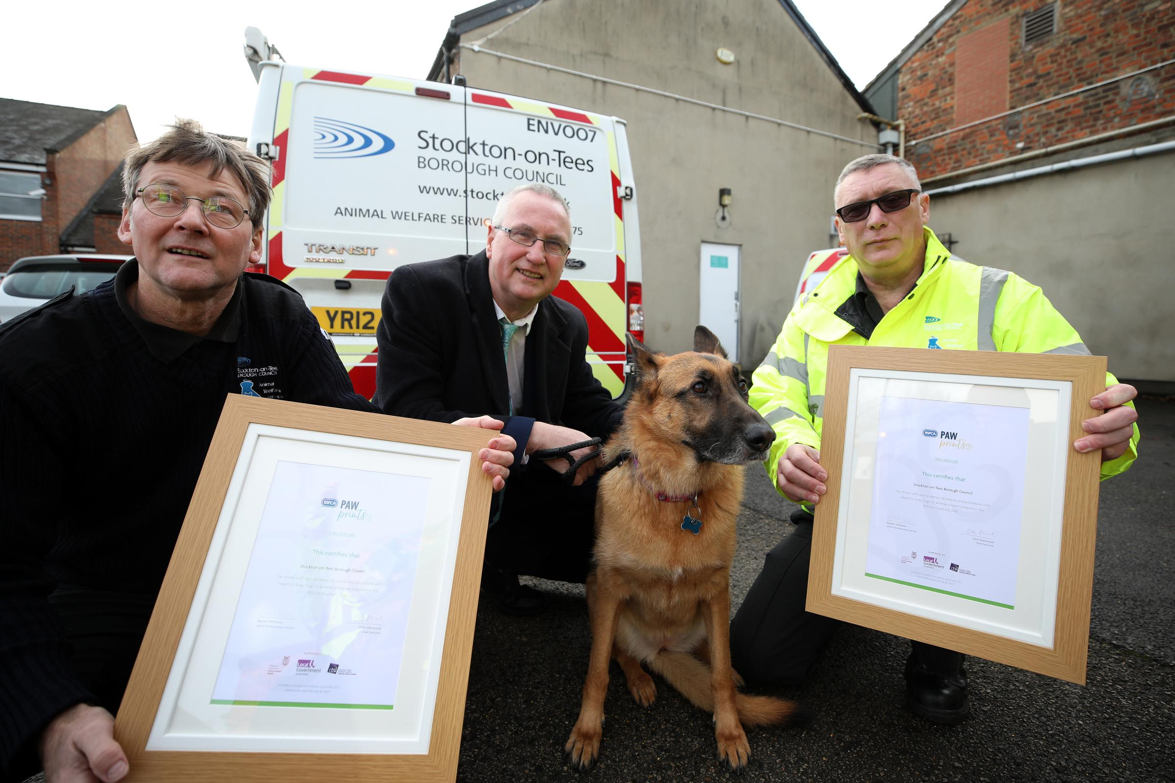 Rspca Inspector Special Award With The Rspca Awards Are Robin Hunter Animal Enforcement Officer Councillor The Advertiser Top Rspca Award For Stockton Councils Dog Team The Northern Echo