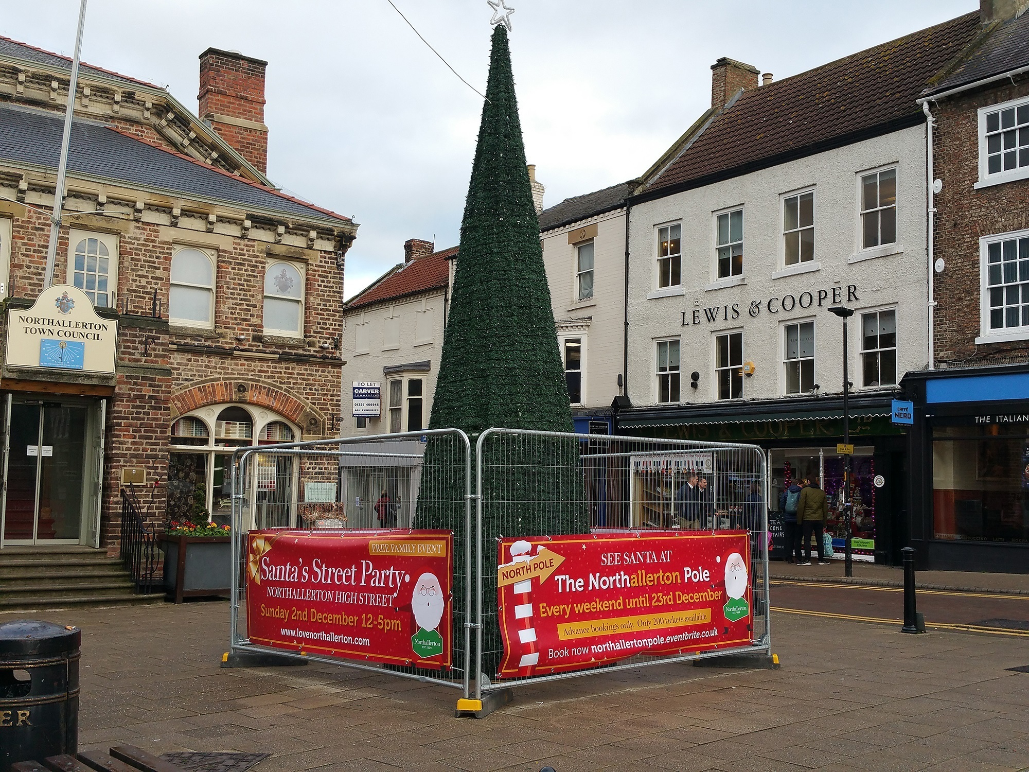 Northallerton Christmas tree will be lit up tomorrow