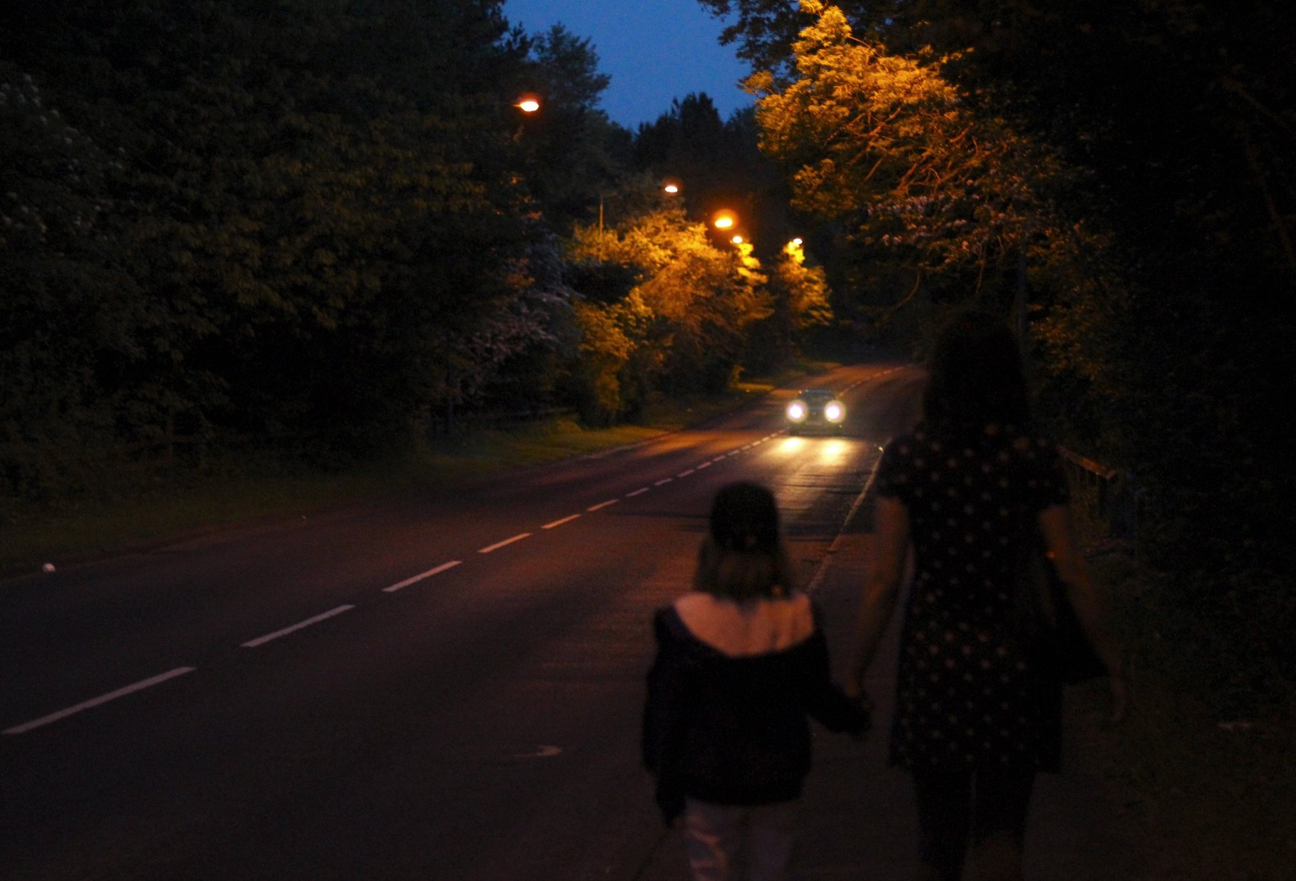 DARK ROAD: Concerned residents have called on Durham County Council to return the street lights between Brandon and Langley Moor