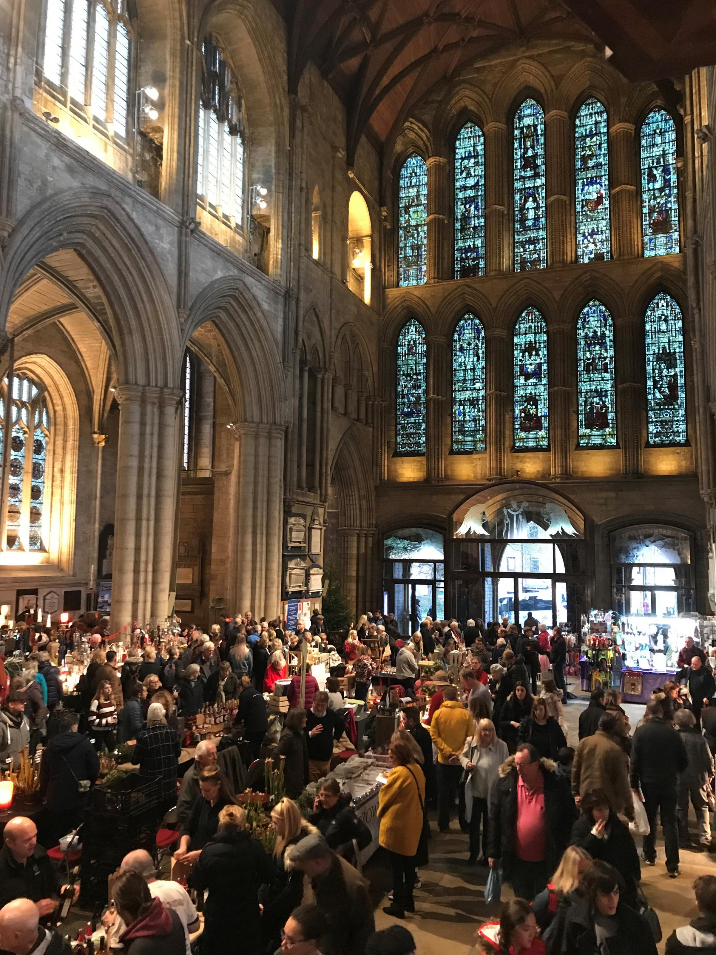 CHRISTMAS: The food and gift fair at Ripon Cathedral