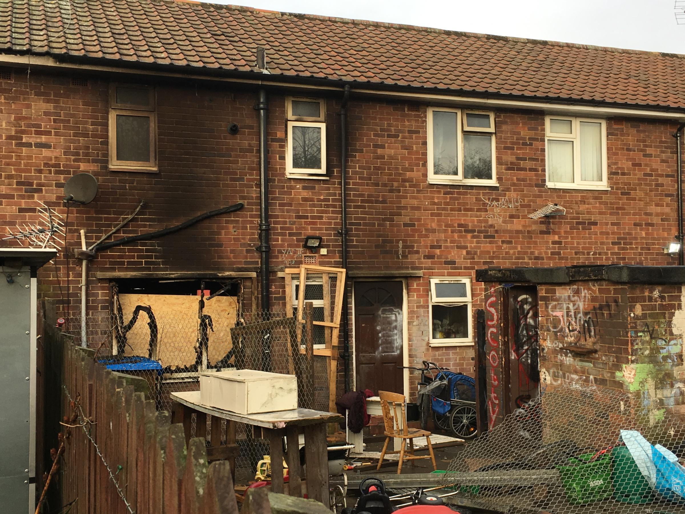 Girl, 7, still in hospital with serious injuries following house