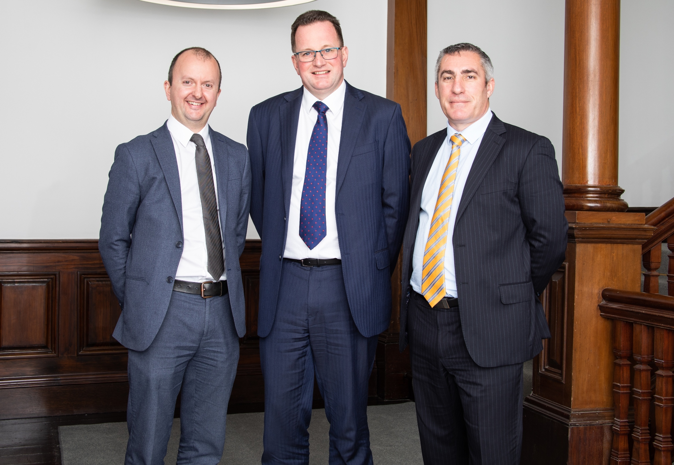 NEW TEAM: Neil Morton, Roger Speirs and Ray Minto of Savills Newcastle