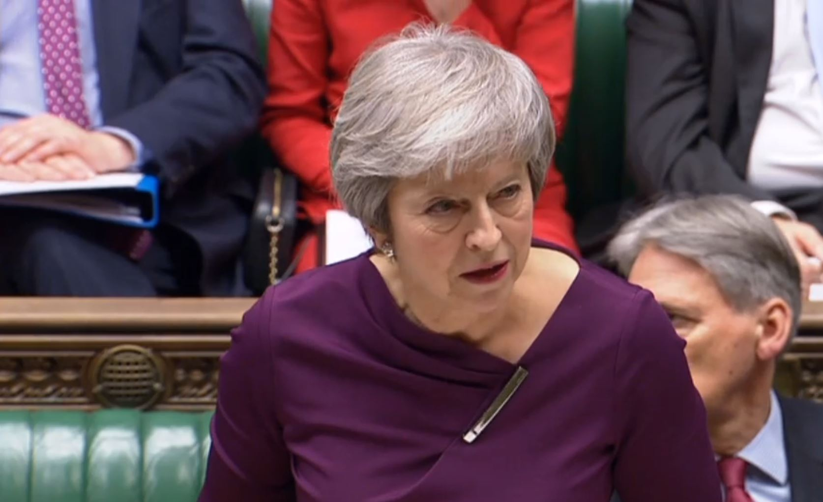 Prime Minister Theresa May giving a statement to MPs in the House of Commons Picture: PA